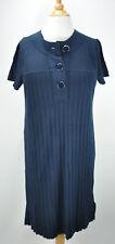 Banana Republic women short sleeve navy blue silk/wool dress size XS