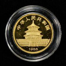 1986 10 YUAN CHINA 1/10 oz GOLD PANDA COIN, PROOF *OMP* LOT#Z125