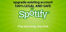 Upgrade existing Spotify to Premium for 6 month . Own playlist . 100% Legal .