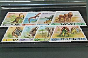TANZANIA - 1988 PREHISTORIC & MODERN ANIMALS - SET OF 8 MNH (CTO)