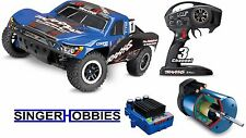 Traxxas 6807724 Slash 4x4 ULTIMATE 4WD RTR TSM & Audio #1 BLUE TRA6807724D1 HH