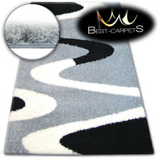 BEAUTIFUL VERY SOFT SHAGGY RUGS 'ZENA' grey HIGH QUALITY FLUFFY CHEAP CARPETS