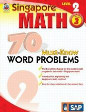 Singapore Math: 70 Must-Know Word Problems by Carson-Dellosa Publishing Staff...