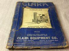 Clark Equipment Clarklift 50b Maintenance Amp Parts Manual Book