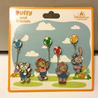 Shanghai Disney Pin SHDL 2019 Duffy and Friends Gelatoni Duffy etc 4 Pins Set