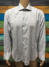 (Used) Mens Gianni Ferrucci Long Sleeve Button Front Shirt Size: 44/XL Checks