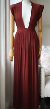 ISABEL MARANT SACHI VOIL MAXI DRESS IN RUST FR 38 UK 8/10