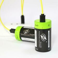 2Pcs 1.5V 4000mAh USB D size Rechargeable Battery + Micro USB Charging Cable UK