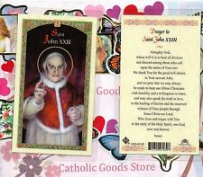 Saint St. John XXIII  with Prayer to Saint John XXIII - Laminated  Holy Card