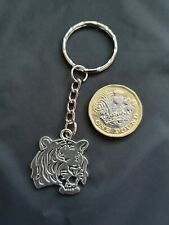 Large Tiger Zoo Animal Key Ring Key Chain Tibetan Silver Big Cat