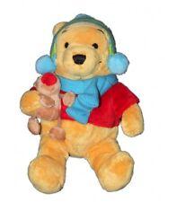 Peluche Doudou Winnie l'Ourson Bonnet bleu vert Renne Echarpe 26 cm Authentic Di
