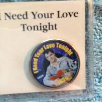 NOS ELVIS PRESLEY MYSTIC STAMP COLORIZED QUARTER TOP 40 I NEED YOUR LOVE TONIGHT