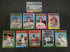 1975 Topps Baseball 10 card lot with some stars