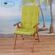 2 Exklusive Sun Garden Gartenpolster in grün Sessel Auflagen Kissen Sitzkissen