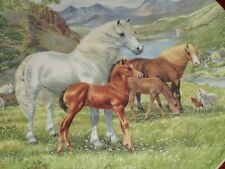 Davenport Collectors Plate WELSH MOUNTAIN PONIES