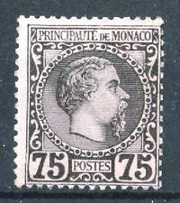 "MONACO STAMP TIMBRE 8 "" PRINCE CHARLES III 75c NOIR SUR ROSE "" NEUF xx TB   P489"