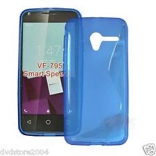 Custodia Cover WAVE BLU S Line Silicone Gomma TPU Per Vodafone Smart Speed 6
