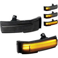 For 15-20 Ford F150 Smoked Sequential LED Dynamic Side Mirror Turn Signal Lights