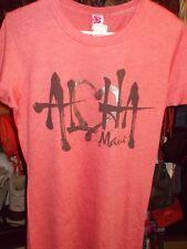 "Island Girl Womens T-Shirt ""Aloha Maui"" Graphic Tee Heather Red Large NWT"