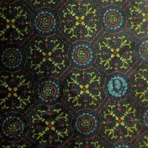 Blue Burgundy Foulard Silk DIOR Boutique Tie