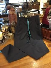 Happy Brand Scrubs Xs Pants Bottoms Gray & Turquoise Drawstring & Accent Trim