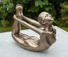 "Body Talk - Yoga "" DHANURASANA Arc pose "" MAGNIFIQUE SCULPTURE - L=13.50 cm"