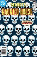 SECRETS OF HAUNTED HOUSE #42 HIGH GRADE! WHITE PGS SKULL SKELETON CVR JOE KUBERT
