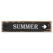 SP0018 SUMMER Street Sign Bar Store Shop Pub Cafe Home Room Shabby Chic Decor