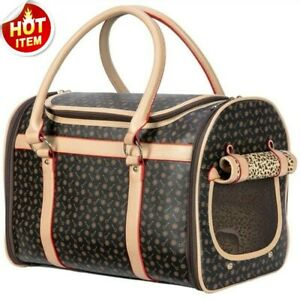 Leather Small Cat Dog Carrier Pet Handbag Fashion Outdoor Travel Pet Supplies