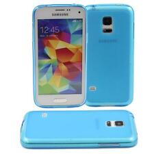 BLUE SAMSUNG GALAXY S5 MINI SOFT GEL TPU SILICONE RUBBER CASE: FROSTED BACK M78