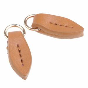 2Pcs Leather Zip Puller Zipper Pulls Fastener Slider for Backpack 3.5 x 1.2cm