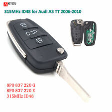 Flip Remote Car Key Fob 3Button 315MHz ID48 for Audi A3 TT2006-2010 8P0837220E/G