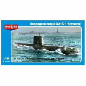 "Mikro Mir 350-009 - 1/350 SSN-571 ""Nautilus"" U.S. Nuclear Submarine 277 mm scale"
