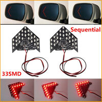 2Pcs Super Red 33-SMD Sequential LED Arrows for Car Side Mirror Turn Signal Lamp