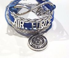 US Air Force Infinity Love Bracelet with Charm