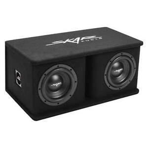 "NEW SKAR AUDIO SDR-2X8D4 DUAL 8"" 1,400 WATT LOADED PORTED SUBWOOFER ENCLOSURE"
