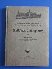 Russisch Lehrbuch /Schulbuch -Russisches Übungsbuch antik 1924 sehr selten