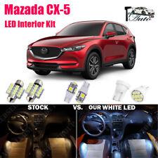 9x Xenon White LED Lights Interior Package For 2013 - 2016 2017 2018 Mazda CX-5