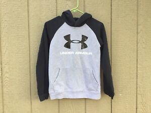 Youth Under Armour Hoodie Loose Size Xl Black And Gray Bg 598