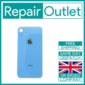 For Apple iPhone XR Replacement Back Glass (Blue) UK Stock Quality Part Genuine