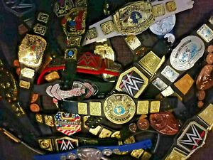 WWE Mattel Jakks Belts Titles Championships lot wwf/wcw/ecw Wrestling