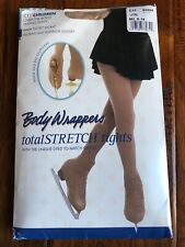 Body Wrappers over-the-boot ice skating tights nude