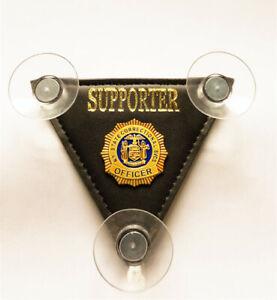 Police car shield mini* Supporter -FOP -PBA -Support Law Enforcement