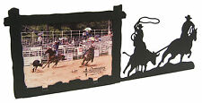 """Team Roping Steer Rodeo Picture Frame 3.5""""x5"""" - 3""""x5"""" H - Ropeing"""