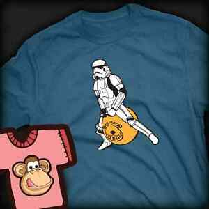 Stormtrooper on a spacehopper T-shirt - Lots of Colours XS - XXL