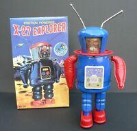 Robot mécanique en tôle. X-27 EXPLORER. 21 cm - Neuf