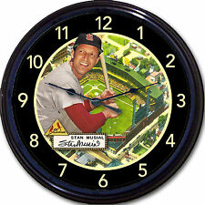 Stan The Man Musial Sportsman Busch St Louis Cardinals Baseball Card Wall Clock