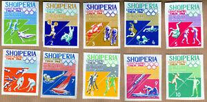 Albania 1964 Complete Set MNH Michel Catalog nº 870/79 *** Imperf