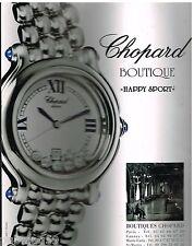 """Publicité Advertising 2000 La Montre Chopard """"Happy Sport"""""""