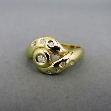 Natürliche Ringe im Eternity-Stil aus Gelbgold mit Diamanten